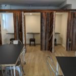 Private booths in the Woodward View Event Space