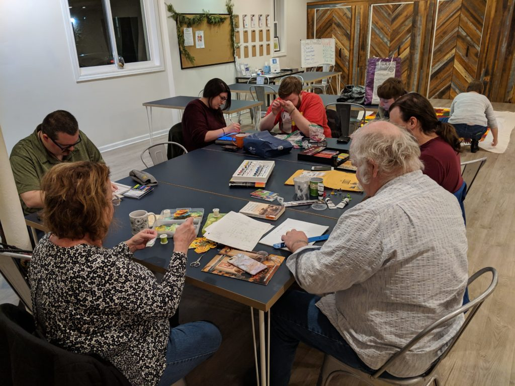 Neighbors gather for a creativity meetup at PatchWork Collective
